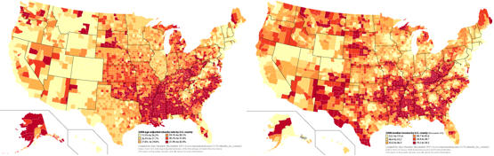 Mapping US Obesity Rates At The County Level  Max Masnick - Income maps of the us
